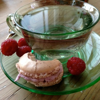 Eat them! I had tea out of my Depression Glass & Tea set