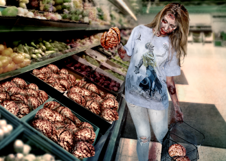 Me photoshopped into a zombie