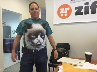 Sir Jon Hampson in his Grump Cat